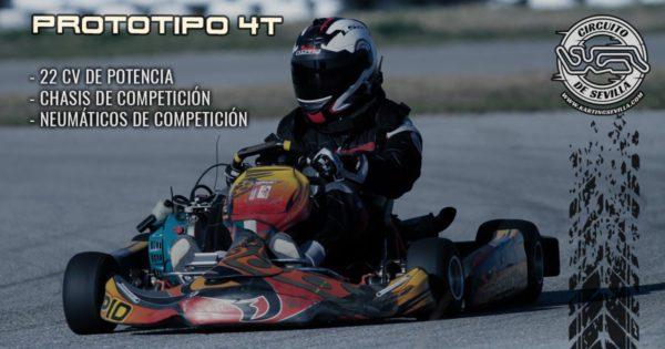 cartel karts de competicion 4t